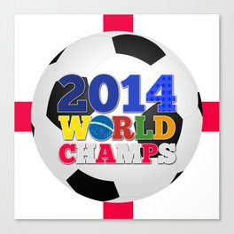 2014 World Champs Ball - England Canvas Print