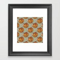 trick or treat? - pattern Framed Art Print