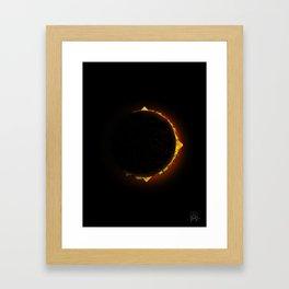 Burger Eclipse Framed Art Print