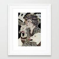 superwholock Framed Art Prints featuring The Hounds by Savana Jonau