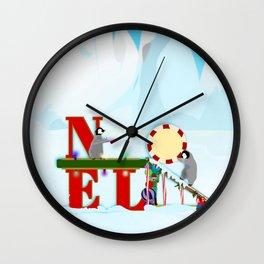Penquin Chicks: Noel Preparation Wall Clock
