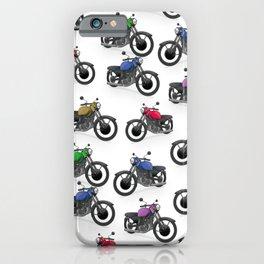 Multicolored Motorbikes pattern iPhone Case