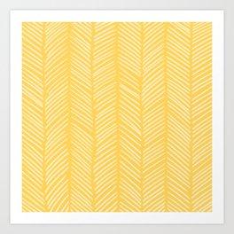 Sunshine Herringbone Art Print