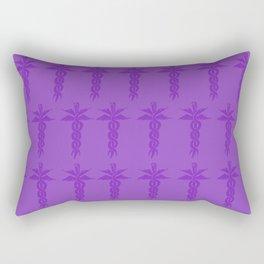 Medical ID Print (Purple) Rectangular Pillow