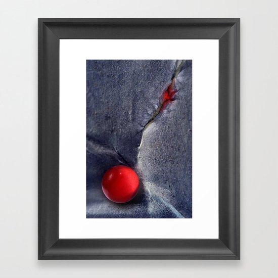 THE RED BALL Framed Art Print