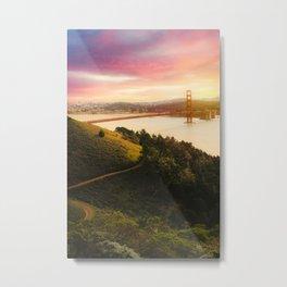 Golden Gate Bridge | San Francisco California Landscape Sunset Travel Photography Metal Print
