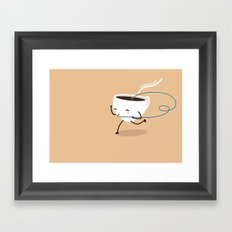 Seb, the cup of coffee Framed Art Print