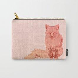 Peach Fox Carry-All Pouch