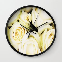 White roses Wall Clock