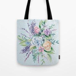 Romantic Watercolor Flowers Bouquet Tote Bag