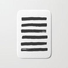black paint stripes Bath Mat
