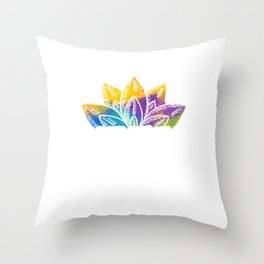 Abstract Colored Floral Believe In The Power Of The Universe Throw Pillow