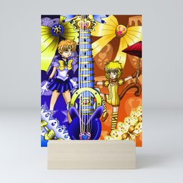 Sailor Mew Guitar #60 - Sailor Uranus & Mew Pudding Mini Art Print