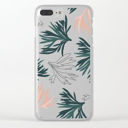Coral Seaweed Clear iPhone Case