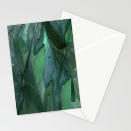 Shades of Evening Leaf Abstract Stationery Cards