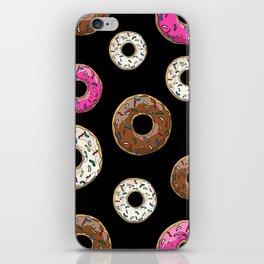 Funfetti Donuts - Black iPhone Skin
