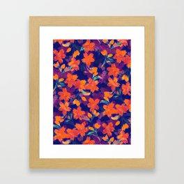 Japanese Garden: Blossoms Dk Framed Art Print