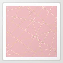 Blush pink & gold Art Print