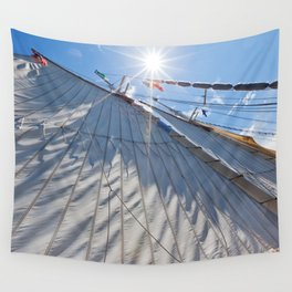 White Sails and Sunshine Wall Tapestry