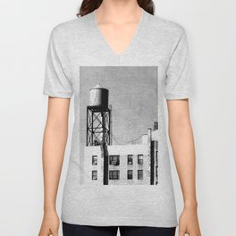 On the roofs of the big apple Unisex V-Neck
