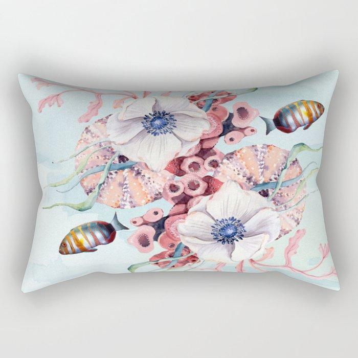 Seahorse Sunday Rectangular Pillow