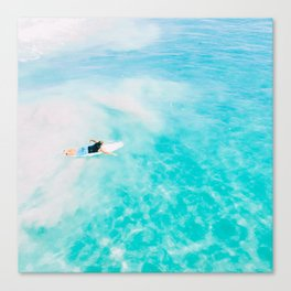 Surfing, surf in California Canvas Print