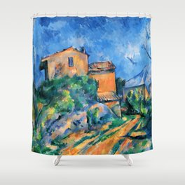 "Paul Cezanne ""Maison Maria with a View of Chateau Noir"" Shower Curtain"