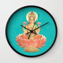 Lakshmi, Goddess of Love (Turquoise) Wall Clock