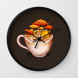 A Sip Of Cabin Nature Wall Clock