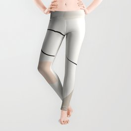 Dreaming Girl Portrait #minimalart Leggings