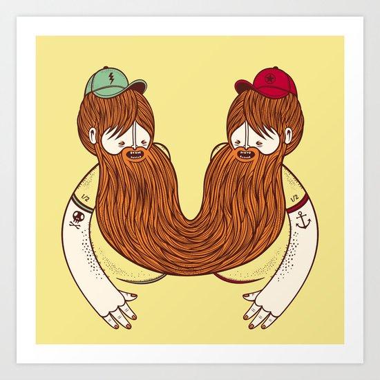 Siamese Twins V.2 Art Print