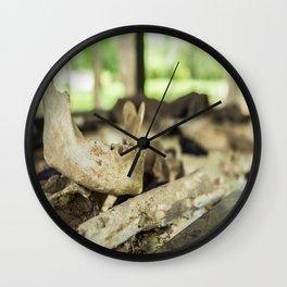 Skeletal Remains, Killing Fields, Cambodia Wall Clock