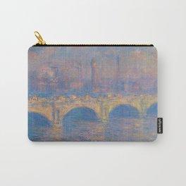 "Claude Monet ""Waterloo bridge"" Carry-All Pouch"