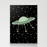ufo Stationery Cards featuring UFO by Mr and Mrs Quirynen