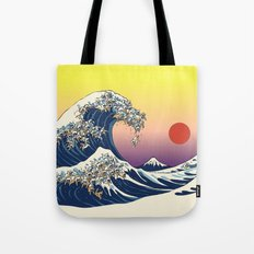 The Great Wave Of  Cat Tote Bag