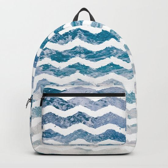 Waves #home #art #prints Backpack