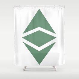 Ethereum Classic (ETC) Logo Shower Curtain