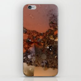 Study of textures and terra cotta iPhone Skin