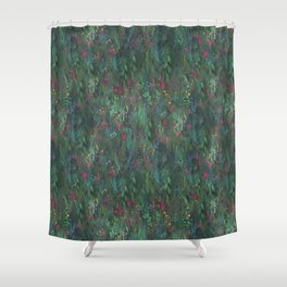 After Anawhata Jungle  Pattern Shower Curtain