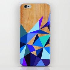 Wooden Geo Blue iPhone & iPod Skin