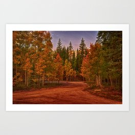 The Road out Art Print