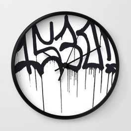 1530 Graffiti Handstyle Wall Clock