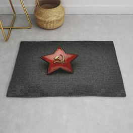 Red star (USSR) Rug