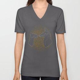 Sacred Anubis & Bastet Unisex V-Neck