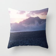 Crash into me - Romantic Sunset @ Beach #2 #art #society6 Throw Pillow