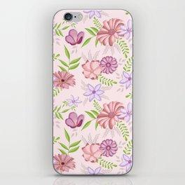 Flowers dancing around iPhone Skin