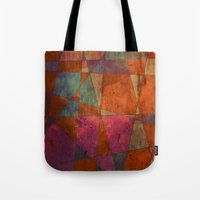 baroque Tote Bags featuring Baroque Cubism by Tony Vazquez