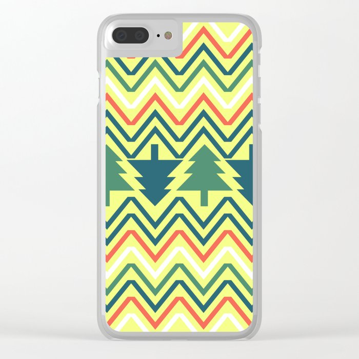 Christmas trees Clear iPhone Case