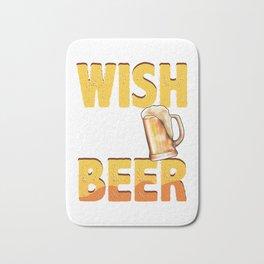 Funny Wish You Were Beer Drinking Pun & Joke Bath Mat
