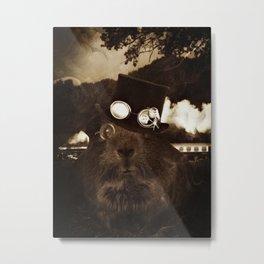 Steampunk Guinea Pig Metal Print